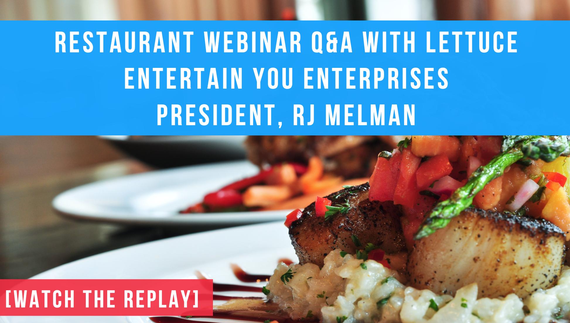 Strategic Hospitality Search Restaurant Manager Recruiter Lettuce Entertain You Enterprises Webinar